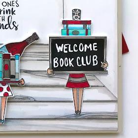 Book Club Wine Card by October Guest Designer Bobbi Lemanski   Wine A Little and Classy Teachers Stamp Sets by Newton's Nook Designs #newtonsnook #handmade