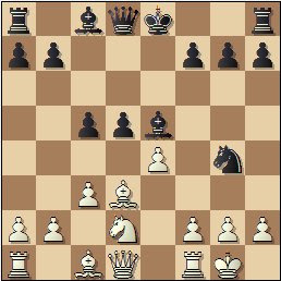 Partida de ajedrez Romero vs. Hernando, Zaragoza 1949, posición después de 10…Cg4?