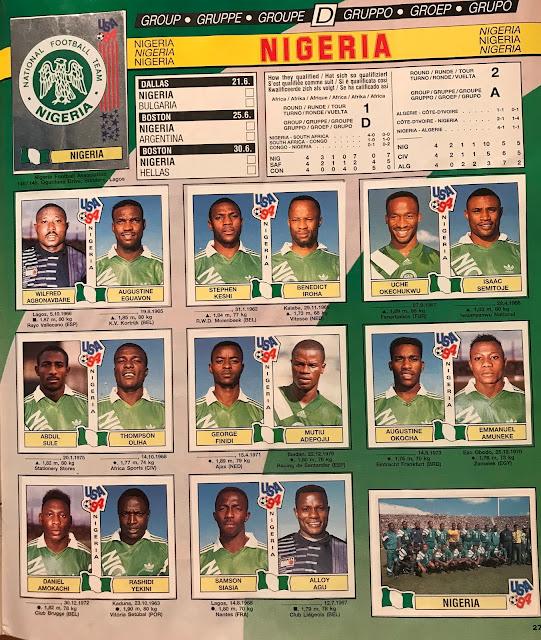 Figurine Nigeria Usa '94