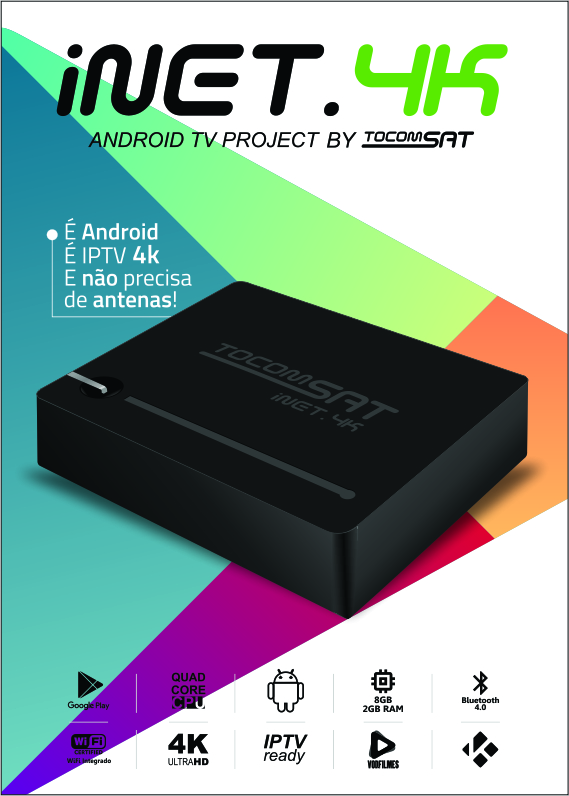 TOCOMSAT INET 4 K STREAM ANDROID 5.1.1 VIDEO APRESENTAÇÃO - 30/04/2016