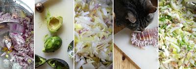Zubereitung Chicoréesalat mit geräucherter Forelle und Avocado