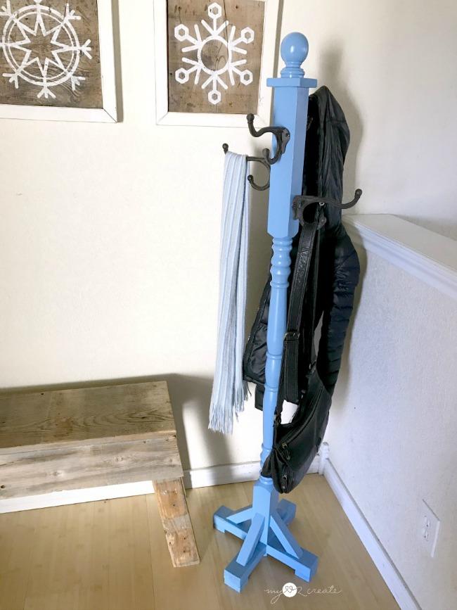 DIY Standing Coat Rack, MyLove2Create