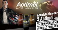 Logo Concorso ''Vinci un casco con Actimel'': 35 Caschi Moto X-803 Replica Petrucci