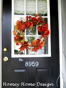 Homey Home Design Front Porch Fall Decor