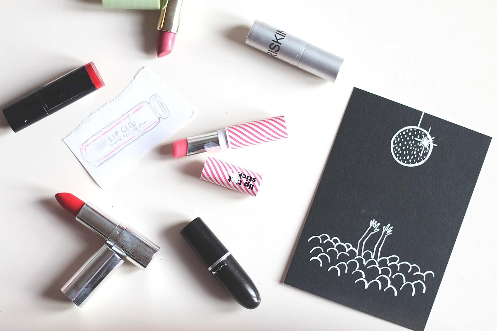 lipstick flatlay