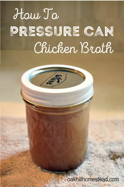 Pressure canners - are you nervous about using yours? This tutorial shows you how to pressure-can chicken broth.