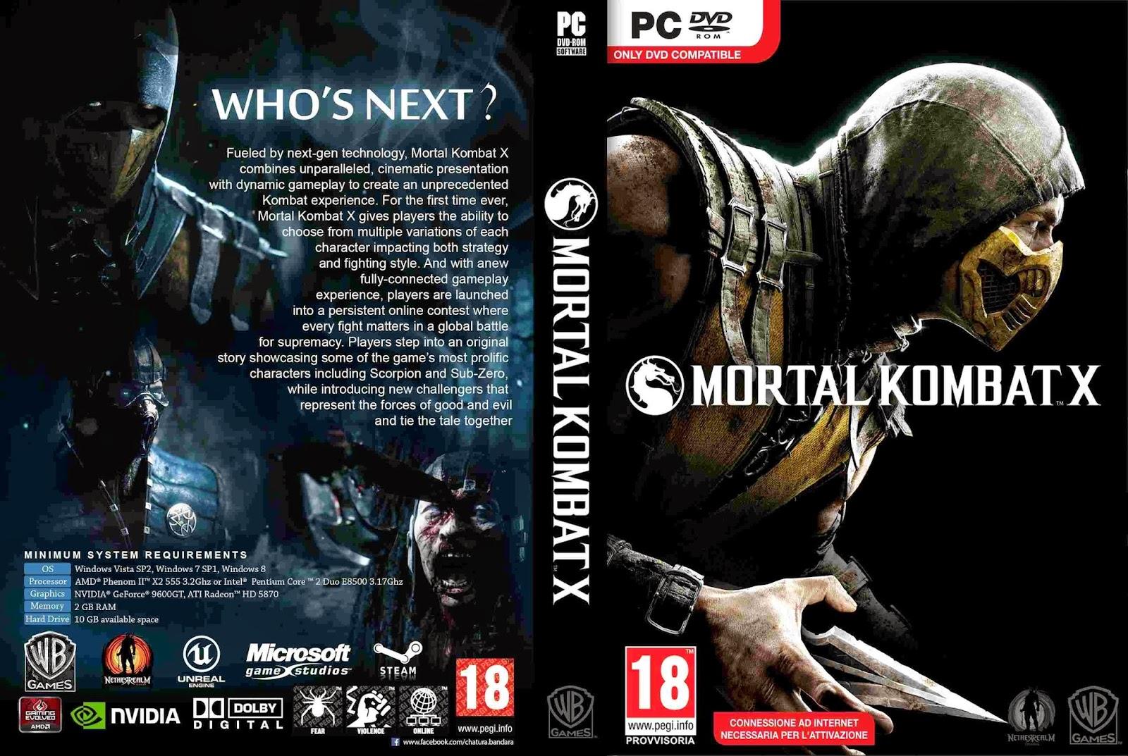 MEGA DAVID: Descargar Mortal Kombat X Complete [PCDVD