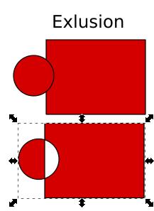 Memotong object dengan EXLUSION