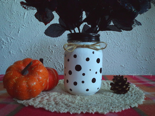 DIY Polka Dot Jar