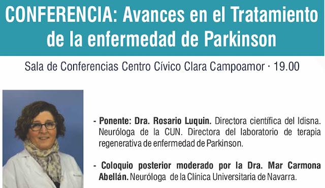 Cartel de la conferencia sobre párkinson