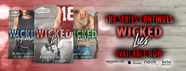 WICKED LIES by LA Cotton @authorlacotton #NewRelease #Review #Excerpt #Giveaway #TheUnratedBookshelf