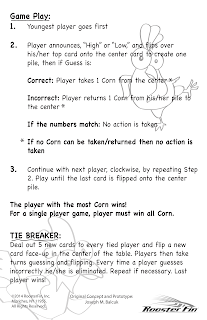 Instructions for Roosteer Race by Roosterfin Games designed by Kurt Keller at Imagine That! Design
