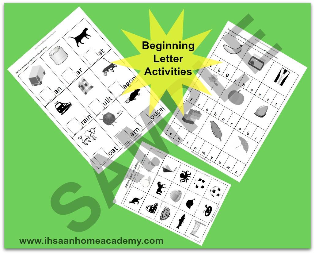 Free Beginning Letter Sound Activities Ihsaan Home Academy