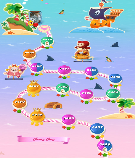 Candy Crush Saga level 3456-3470