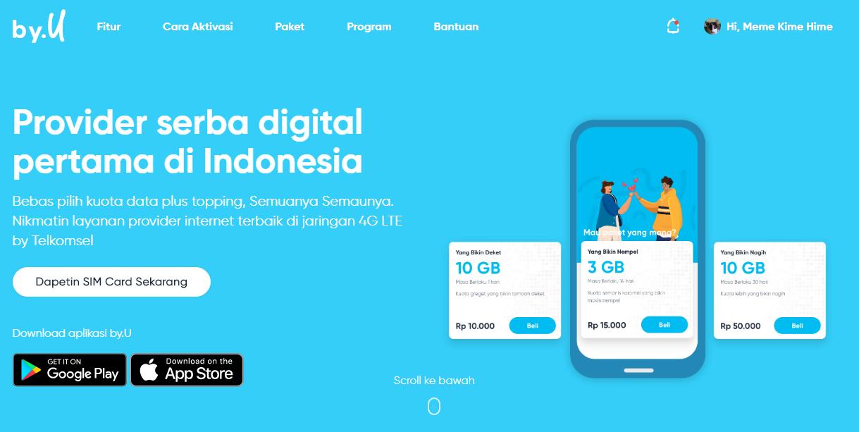Kartu By.U Telkomsel Provider Internet Terbaru yang Serba Digital