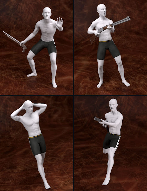Trigger Happy Poses for Genesis 2 and Genesis 3 Male and Female