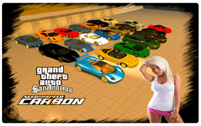Grand Theft Auto San Andreas NFS: Carbon Mod Download