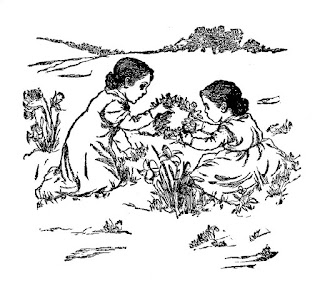girls children image flowers