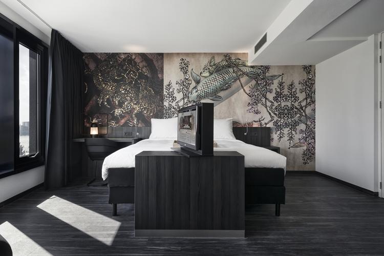 Contoh Desain Interior Kamar Tidur Konsep Hitam Putih