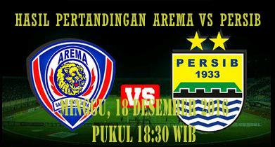 Hasil Pertandingan Arema Cronus Vs Persib Bandung  Tsc