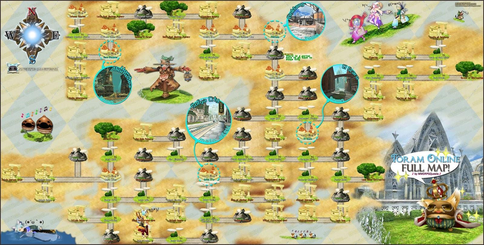 toram online world map Toram Online Full Map V3 2 13a Mmorrg Qyests