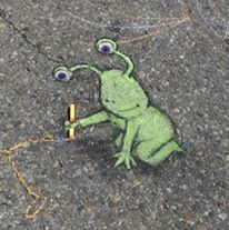 Seni Menggambar 3D di Jalanan dengan Kapur Yang Keren Kreatif dan Sangat Menginspirasi-15