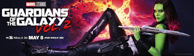 Guardians of the Galaxy Vol. 2 Banner Poster Zoe Saldana
