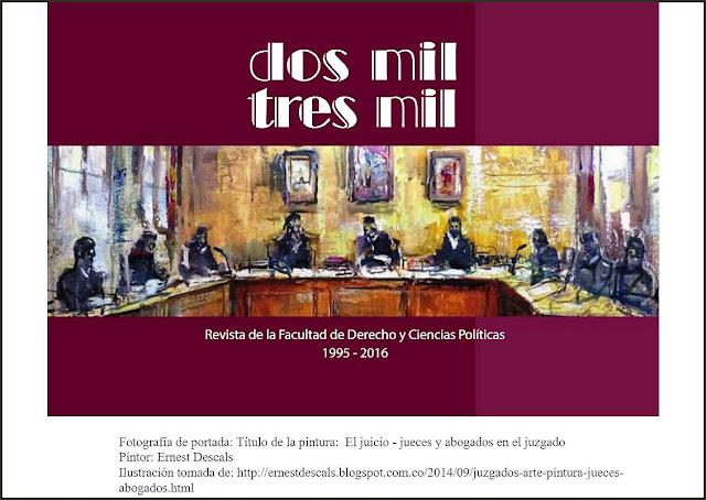 DERECHO-PINTURA-JUICIOS-JUECES-PORTADA-REVISTA-DOS MIL TRES MIL-CUADROS-ARTISTA-PINTOR-ERNEST DESCALS