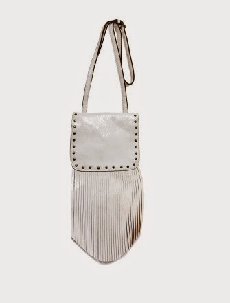 Patricia Nash Granada Crossbody in Vintage White Leather with Fringe
