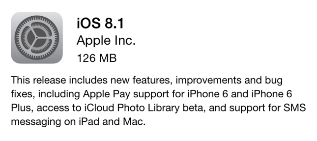 Apple Finally Rolled Out iOS 8.1 Update with Apple Pay