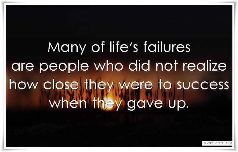 Many Of Life's Failures