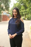 Poojita Super Cute Smile in Blue Top black Trousers at Darsakudu press meet ~ Celebrities Galleries 025.JPG