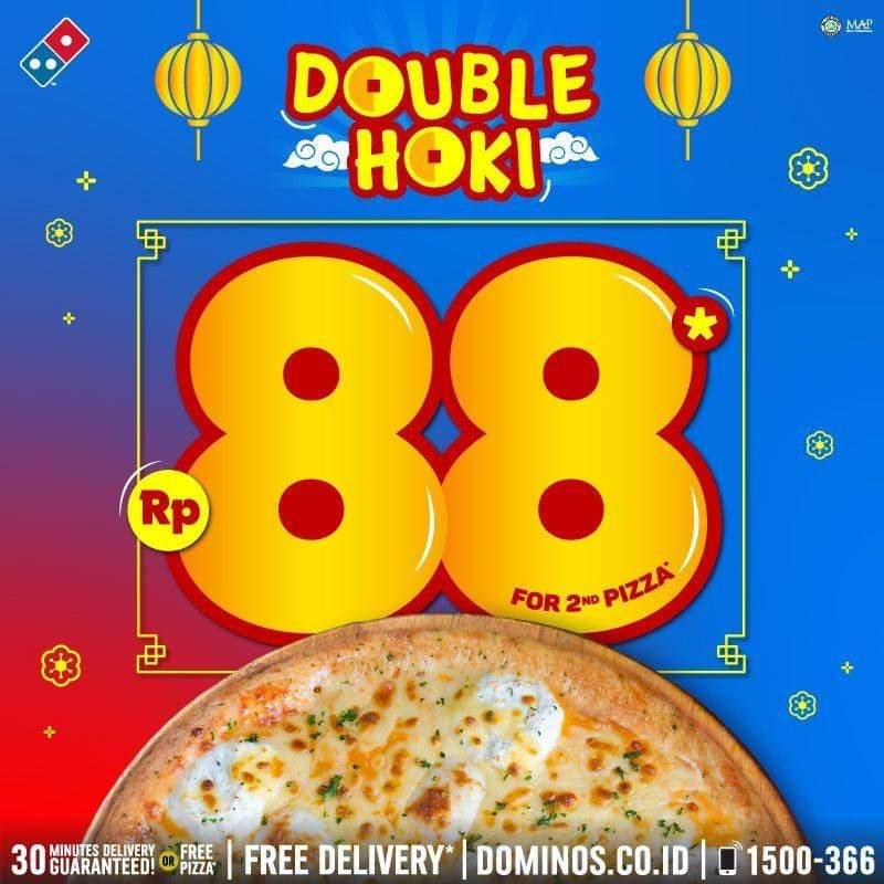 Promo Dominos Pizza Hoki Diskon 88 Pizza Ke 2 Periode 24 26 Januari 2020 Harga Diskon