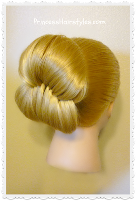 Pull through woven bun hairstyle tutorial.