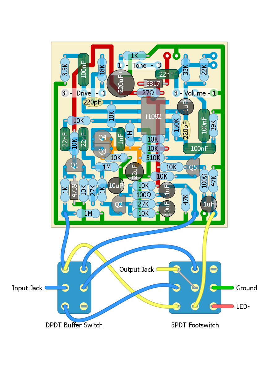 Perf and PCB Effects Layouts: Fulltone OCD V2