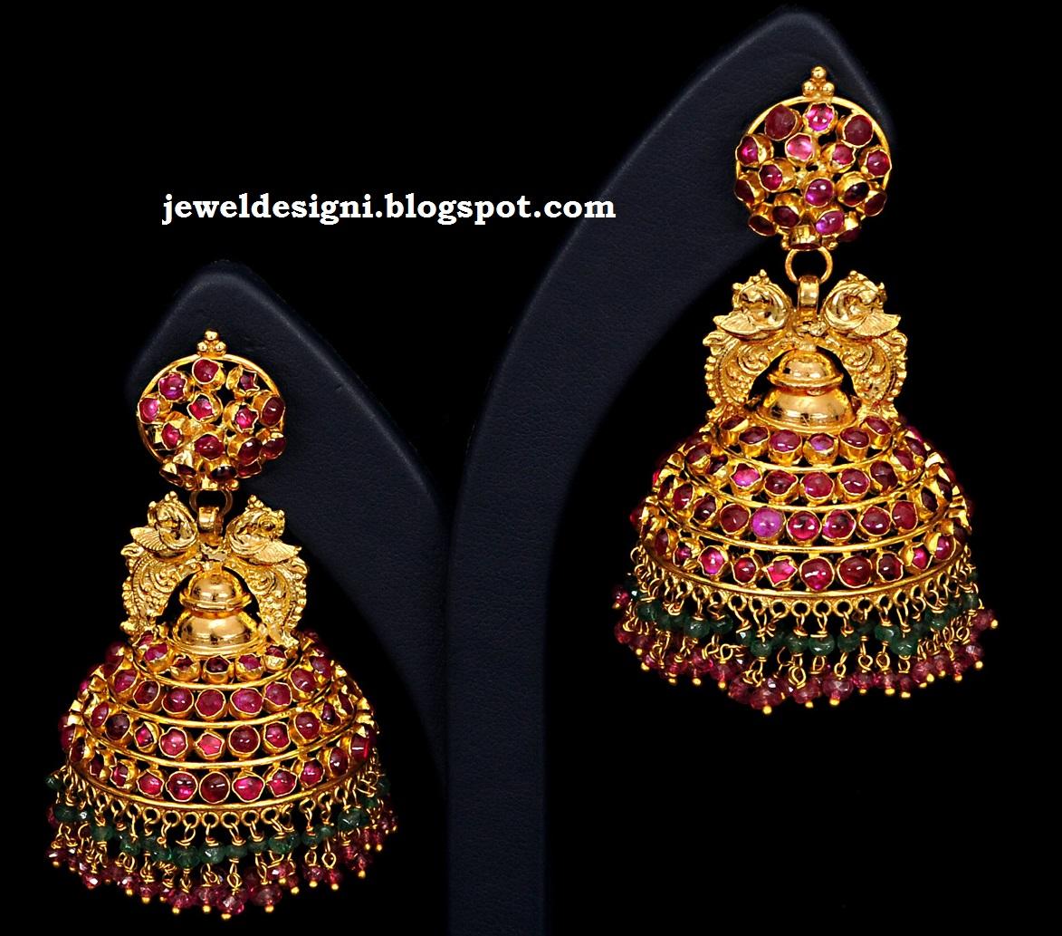 Jewellery Designs Designer Antique Jhumkas Buttalu