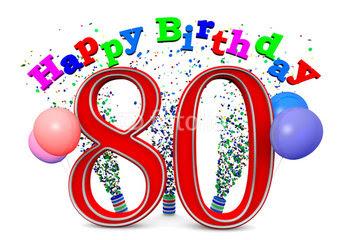 sms d'anniversaire pour 80 ans