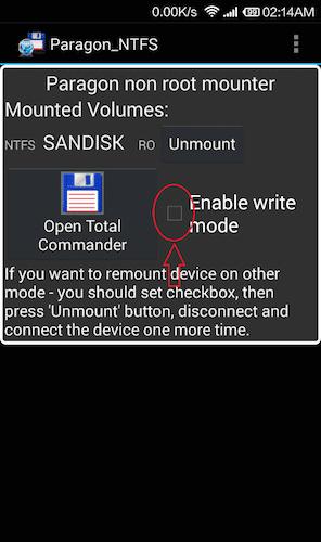 توصيل فلاشة NTFS بالأندرويد
