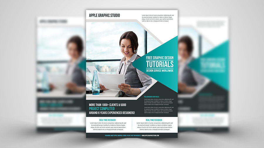 print design make a corporate flyer photoshop tutorial apple