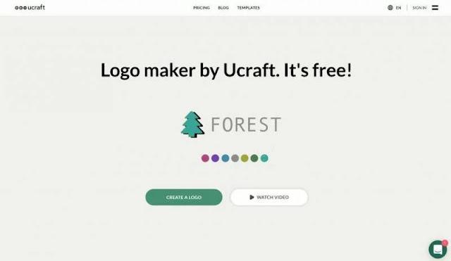 Ucraft: tạo logo và tải xuống miễn phí với độ phân giải cao