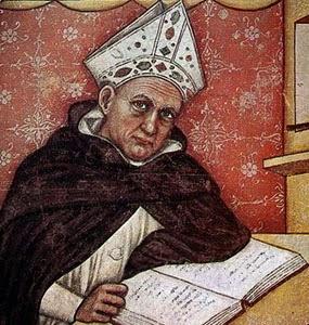 San Alberto Magno por Tommaso da Modena (1352)