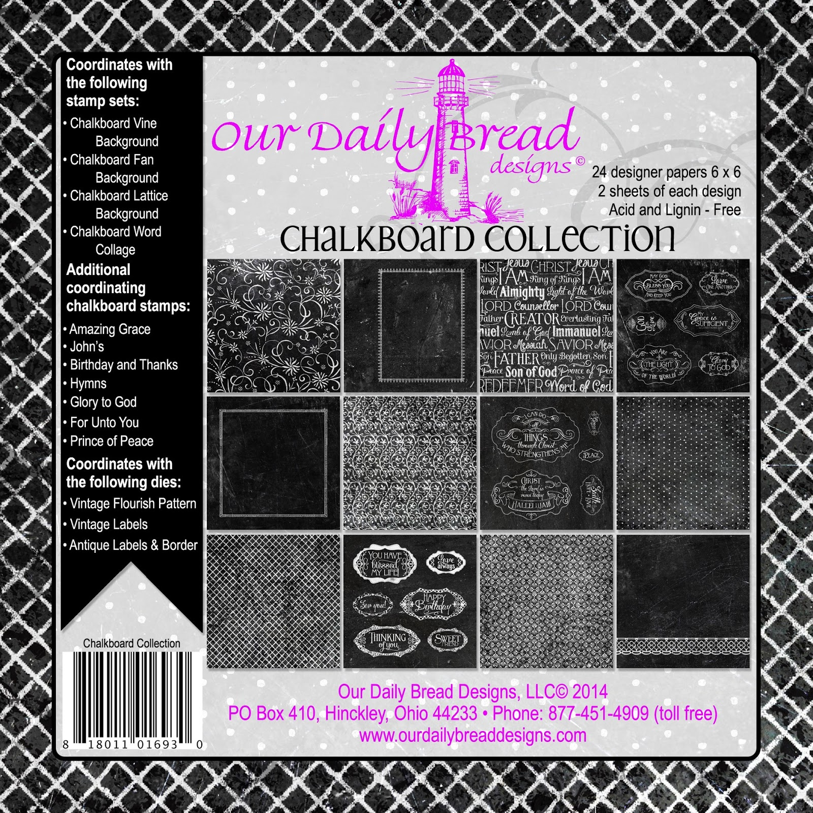 OUR DAILY BREAD DESIGNS CHALKBOARD PAPER COLLECTION
