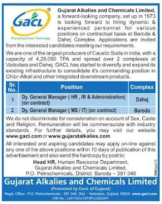 gacl manager job