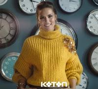 sarı triko kazak modeli