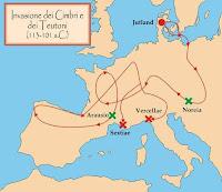 Migraciones de los cimbrios y teutones