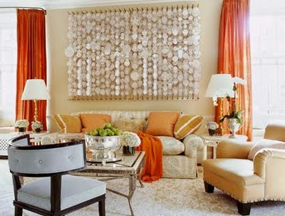 Peach Color Living Room