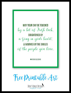 Irish Blessing, Irish Poster, St. Patricks Day Poster, Free St. Patrick's Day Art, Printable Art, Printable Poster, Green Poster, Green Art, Free Printable Art