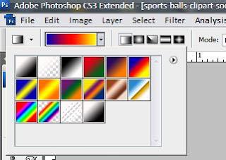 pilihan warna gradien tools