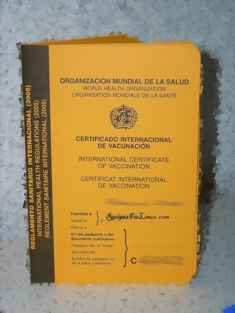 how to get yellow fever certificate