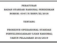 Unduh POS ( Panduan Operasional Standar ) UN Tahun 2018/2019